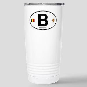 Belgium Euro Oval Stainless Steel Travel Mug