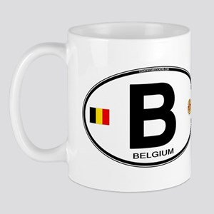 Belgium Euro Oval Mug