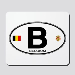 Belgium Euro Oval Mousepad