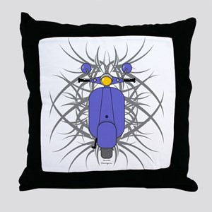 Tribal Scooter Throw Pillow