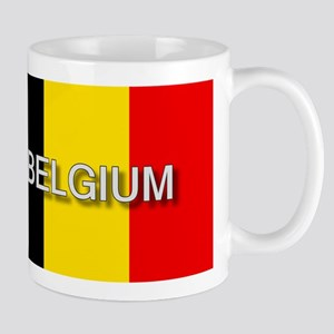 Belgium Flag with Label Mug