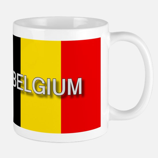 Belgium Flag with Label Mug