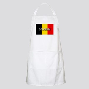 Belgium Flag with Label BBQ Apron