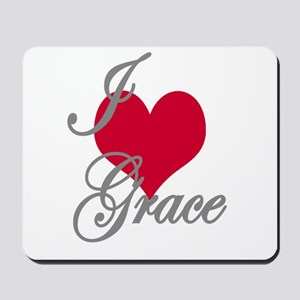 I love (heart) Grace Mousepad