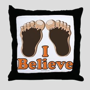 I Believe Bigfoot Throw Pillow