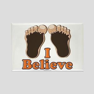 I Believe Bigfoot Rectangle Magnet