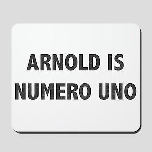 ARNOLD IS NUMERO UNO Mousepad