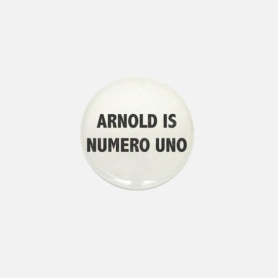 ARNOLD IS NUMERO UNO Mini Button