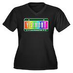 Vermont Women's Plus Size V-Neck Dark T-Shirt