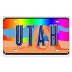Utah Rainbow Rectangle Sticker 50 pk)