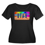 Utah Rainbow Women's Plus Size Scoop Neck Dark T-S