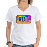 Utah Rainbow Women's V-Neck T-Shirt