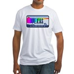 Texas Rainbow State Plate Fitted T-Shirt