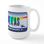 Texas Rainbow State Plate Large Mug
