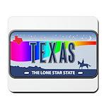 Texas Rainbow State Plate Mousepad