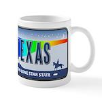 Texas Rainbow State Plate Mug