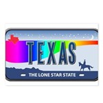 Texas Rainbow State Plate Postcards (Package of 8)