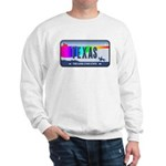 Texas Rainbow State Plate Sweatshirt