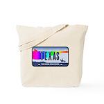 Texas Rainbow State Plate Tote Bag