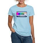 Texas Rainbow State Plate Women's Light T-Shirt