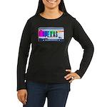 Texas Rainbow State Plate Women's Long Sleeve Dark