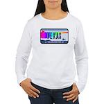 Texas Rainbow State Plate Women's Long Sleeve T-Sh