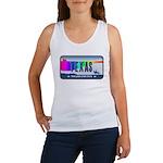 Texas Rainbow State Plate Women's Tank Top