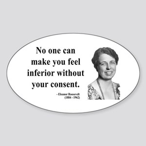 Eleanor Roosevelt 2 Oval Sticker