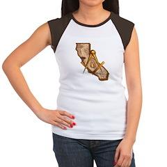 California Masonry Women's Cap Sleeve T-Shirt