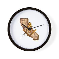 California Masonry Wall Clock