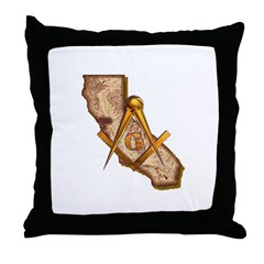 California Masonry Throw Pillow
