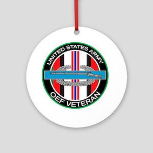 OEF Veteran with CIB Ornament (Round)