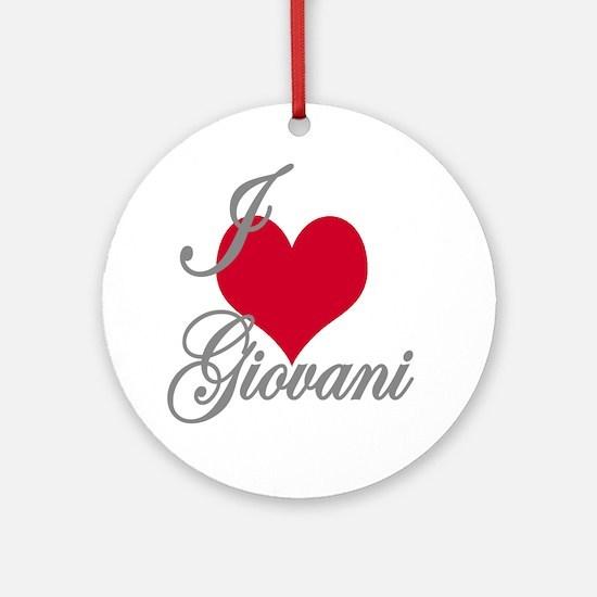 I love (heart) Giovani Ornament (Round)