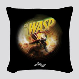 The Wasp Flying Woven Throw Pillow