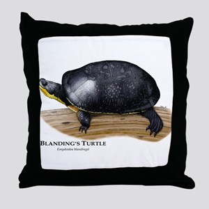 Blanding's Turtle Throw Pillow