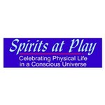 Spirits At Play - Blue Bumper Sticker