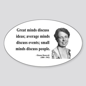 Eleanor Roosevelt 5 Oval Sticker