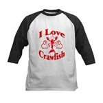 Kids Crawfish Designs Kids Baseball Jersey