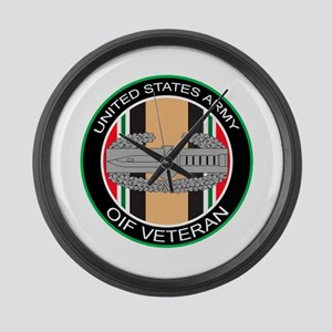 OIF Veteran with CAB Large Wall Clock