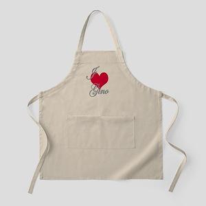 I love (heart) Gino BBQ Apron