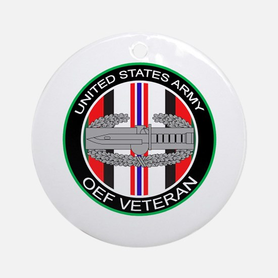 OEF Veteran with CAB Ornament (Round)