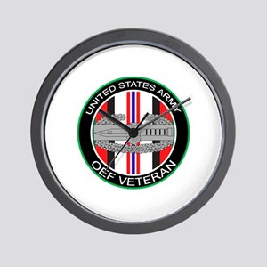 OEF Veteran with CAB Wall Clock