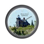 Huron Island Lighthouse Wall Clock
