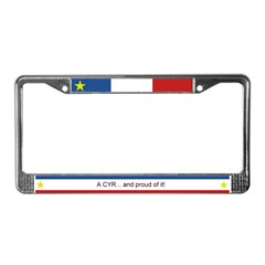 CYR Personalized Acadian License Plate Frame
