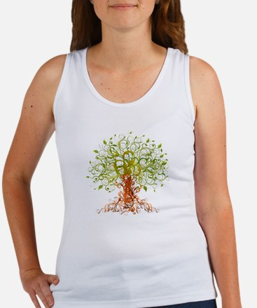 abstract tree Women's Tank Top