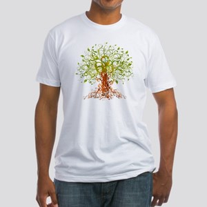 abstract tree Fitted T-Shirt