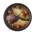 Avocado Art Large Wall Clock
