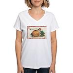 Pumpkin Boy Women's V-Neck T-Shirt