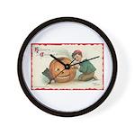Pumpkin Boy Wall Clock