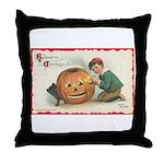 Pumpkin Boy Throw Pillow